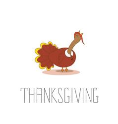 happy thanksgiving celebration design with cartoon vector image
