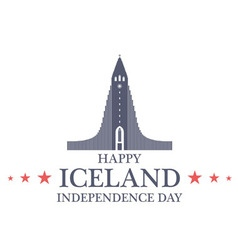 Independence Day Iceland vector image