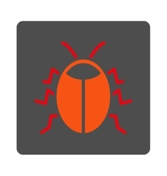 Insect rounded square button vector