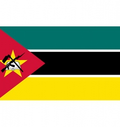 mozambique flag vector image vector image