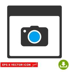 Photo camera calendar page eps icon vector