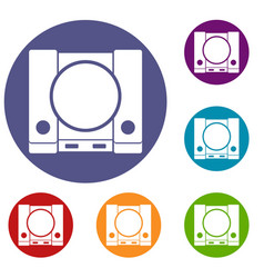 Playstation icons set vector