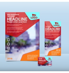 Red brochure flyer and card design vector