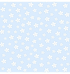Seamless floral pattern on a blue background vector image
