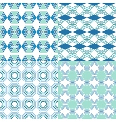 Seamless geometric patterns Decorative vector image vector image