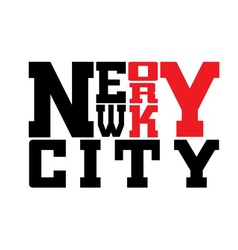 T shirt typography graphic New York city vector image vector image
