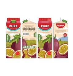 Template packaging design passion fruit juice vector