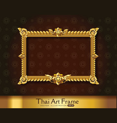 Thai art frame border vector