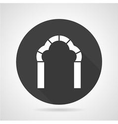 Trefoil arch black round icon vector image vector image