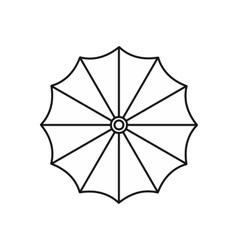 Umbrella icon in outline style vector image