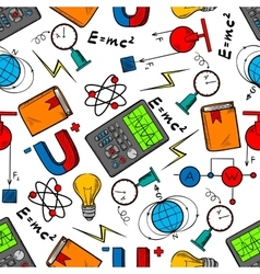 Physics science seamless pattern background vector