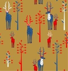 Deer antlered and fantasy trees vector