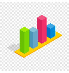 Chart in columns isometric icon vector