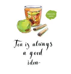 Tea is always a good idea vector