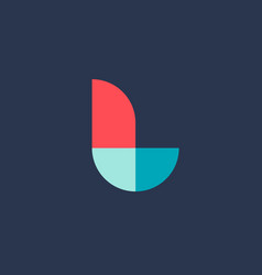 letter l logo icon design template elements vector image