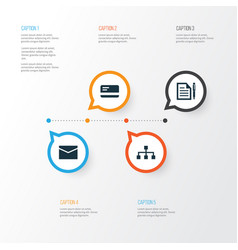 Business icons set collection of contract vector
