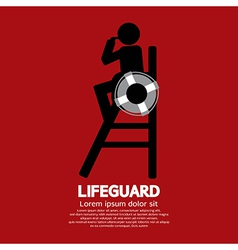 Lifeguard vector