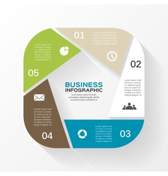 circle infographic Template for diagram graph vector image