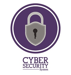 Cyber security digital design vector