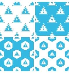 High voltage patterns set vector image