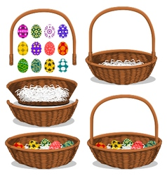 Basic easter basket vector