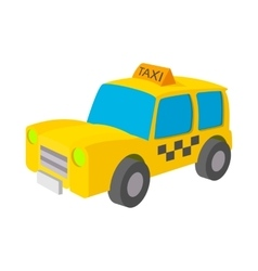 Taxi icon in cartoon style vector image