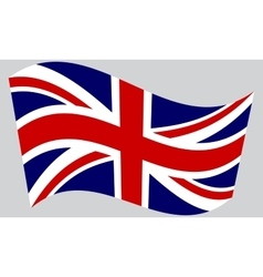 Flag of the united kingdom waving vector