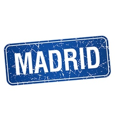 Madrid blue stamp isolated on white background vector