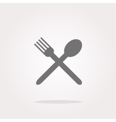 Fork and spoon eat sign icon cutlery etiquette vector