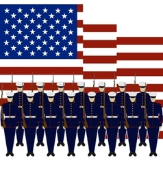 Soldiers of the guard of honour of the usa vector