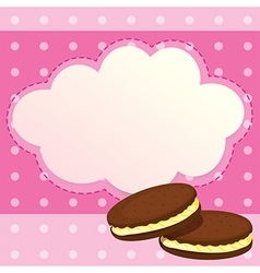 A sweet paper note vector image vector image