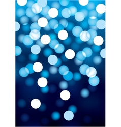 Blue festive lights background vector image