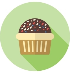 Chocolate muffin vector