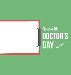 Collection stock card doctor day style vector
