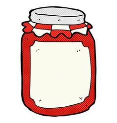 Comic cartoon jar of preserve vector