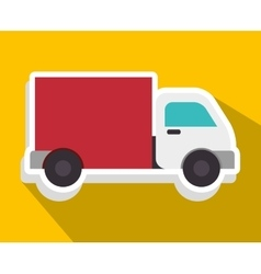 Delivery transport vehicle icon graphic design vector