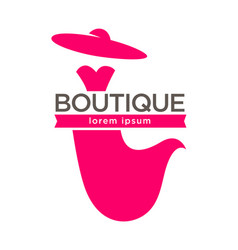 Dress boutique or lady fashion atelier salon vector