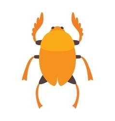 Egypt scarab beetle vector image