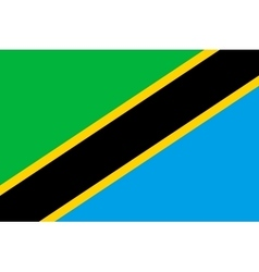 Flag of Tanzania in correct proportions and colors vector image vector image