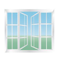 glazed windows icon vector image vector image