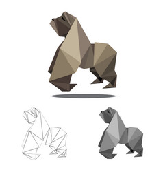 Gorilla polygon vector