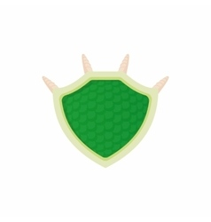 Green protective shield icon cartoon style vector image vector image