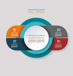 Infographic design options template timeline vector