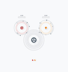 infographics template 2 options with circle vector image