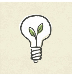 lightbulb ecology concept vector image