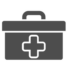 medical tools box flat icon vector image