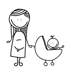Pregnancy mother character isolated icon vector