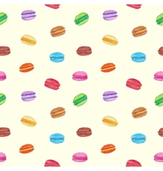 Seamless of colorful watercolor macarons vector