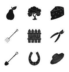 set of pictures about gardening village vector image vector image