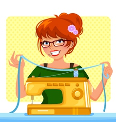 sewing machin vector image vector image